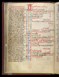 Calendar for January and February, in a Miscellany